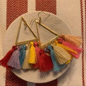 Boho tassel earrings 3/25.00
